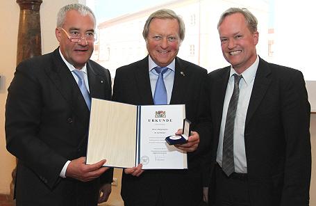 Kultusminister Dr. Ludwig Spaenle, Bürgermeister Dr. Karl Dürner und Generalkonservator Mathias Greipl